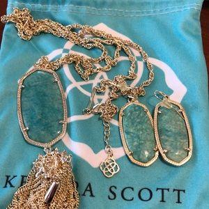 Kendra Scott Rayne Set Mint Green